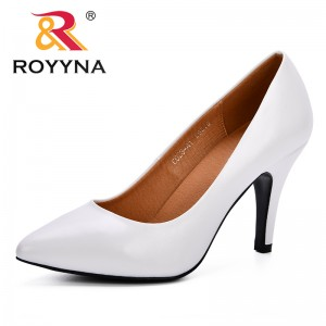 ROYYNA Women Pumps New Designer Simple Sexy Thin High-heeled Pointed Microfiber Leather Women's Shoes Prefessional Shoes Lady