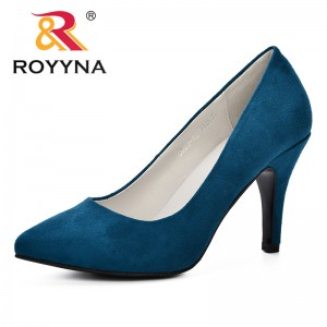 ROYYNA 2019 Spring Autumn Women Sexy Pumps Shoes Nude Black Pointed Toe High Heeled Feminimo Shoes Party Wedding Shoes Ladies