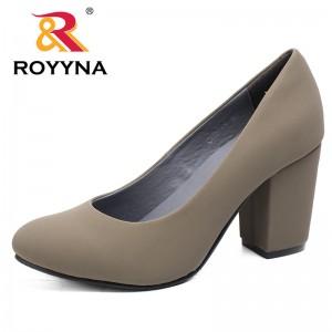 ROYYNA Autumn New Arrivals Women Pumps High Heel Round Toe Platform Popular Comfortable Zapatos De Tacon Alto Women Shoes