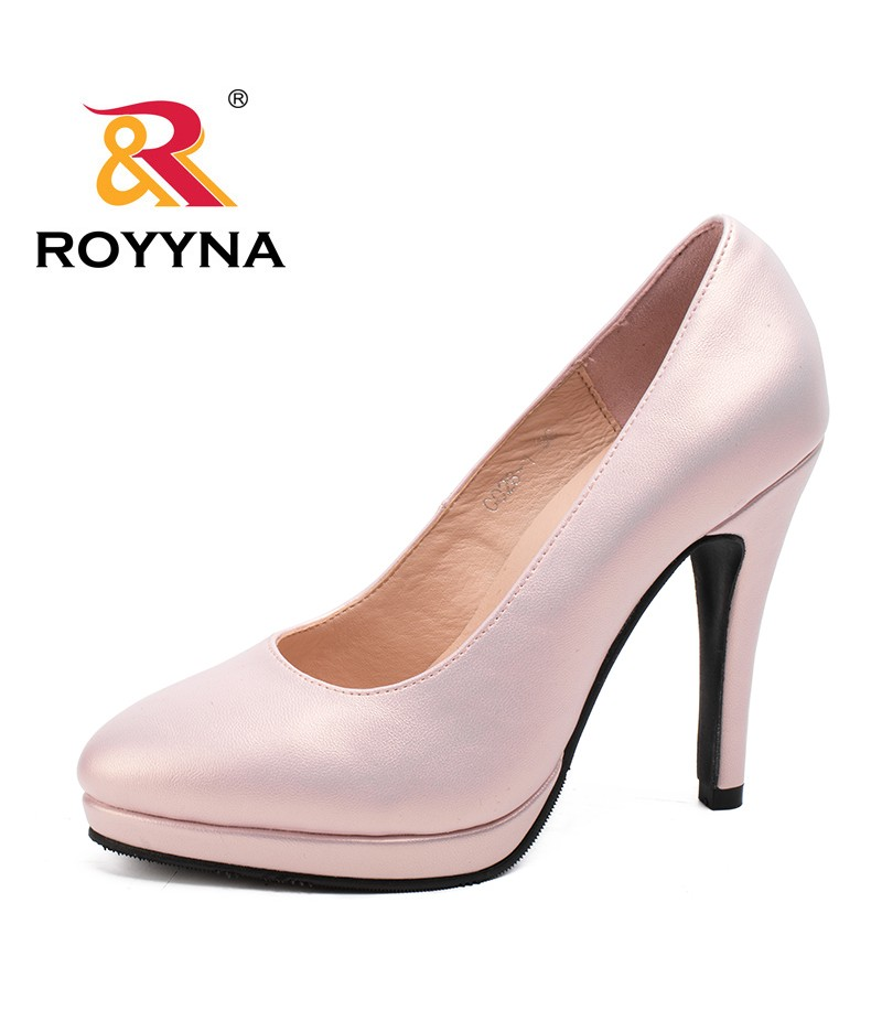 ROYYNA New Fashion High Heels Women Pumps Thin Heel Classic Popular Women Shoes Slip-On Ladies Platform Pumps Free Shipping