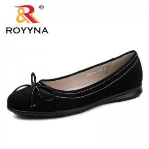 ROYYNA New Leisure Style Women Flats Round Toe Women Office Shoes Butter-Knot Lady Wedding Shoes Comfortable Fast Free Shipping