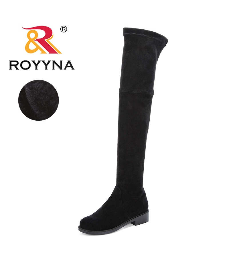ROYYNA Knee High Basic Boots Women Shoes Spring Autumn Women Booties Over Knee Boots Womens Boots Fashionable Comfortable Trendy