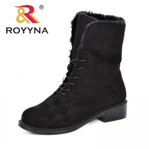 ROYYNA Classic Women Winter Boots Flock Ankle Snow Boots Female Warm Plush Insole High Quality Comfortable Botas Mujer Footwear