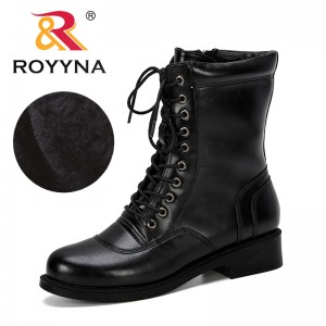 ROYYNA 2019 New Popular Increase Short Boots Women Autumn Winter Round Head Boots Woman Zapatos De Mujer Comfortable Ladies Shoe