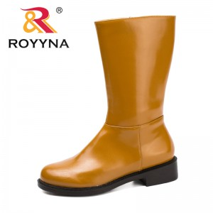 ROYYNA New Typical Style Women Boots Round Toe Women Winter Shoes Zipper Lady Ankle Boots Comfortable Light Soft Free Shipping