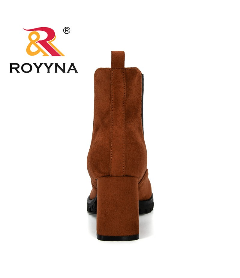 ROYYNA 2019 New Popular Style Casual Ladies Shoes Flock Ankle Boots Women High Heeled Snow Shoes For Femme Comfortable Trendy