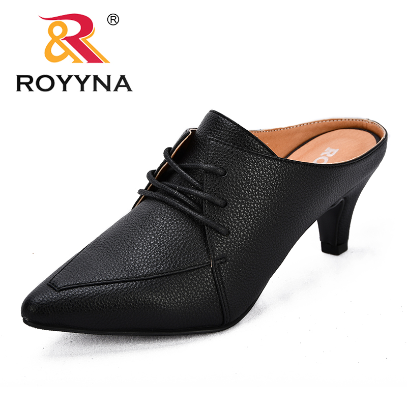 ROYYNA New Novelty Style women Pumps Pointed toe Lace Up Femme Office Shoes Durable Ourtsole Lady Dress Shoes Fast Free Shipping