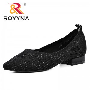 ROYYNA 2019 Summer Mesh Shoes Woman Breathable Fashion Solid Light Weight Pointed Toe Flat Female Leisure Shoes Ladies Footwear
