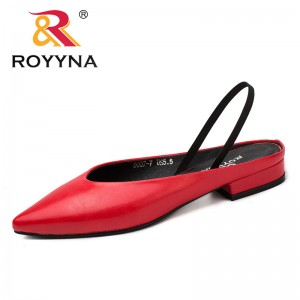 ROYYNA Shoes made in China Women Pumps Pointed Toe Women Shoes Square Heels Women Dress shoes Comfortable Light Fast Free Shipping