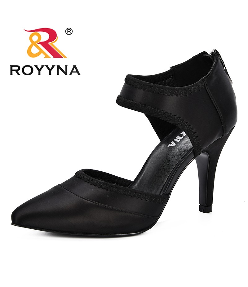 ROYYNA 2019 New Style Spring Women Shoes Basic Retro Fashion High Heels Pointed Toe Office & Career Shallow Footwear Feminimo
