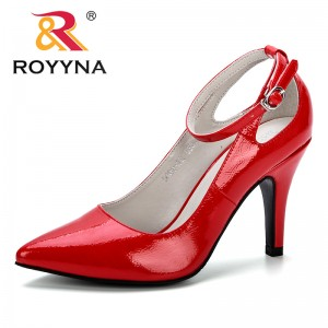 ROYYNA 2019 New Basic Women Pumps Sexy Pointed Toe Thin Heel High Heels Shoes Feminimo Glitter Stiletto Heels Brand Women Shoes