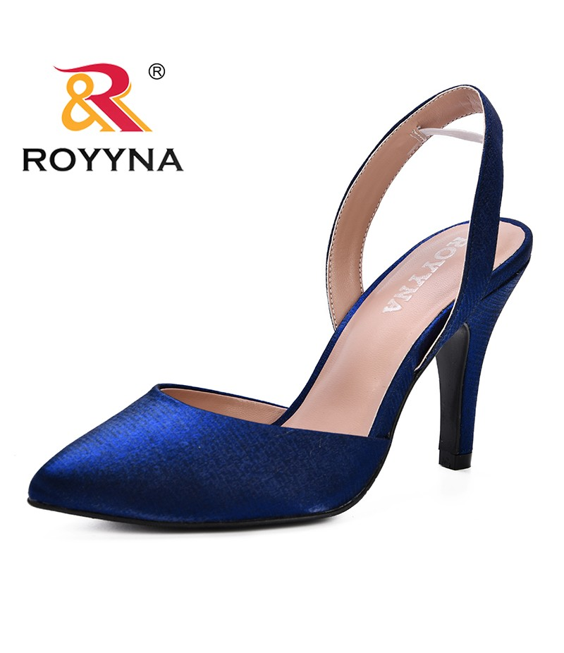 ROYYNA 2019 New Fashion Style Women Shoes Sexy Pointed Toe Pumps Womens Ladies Shoe Zapatos Mujer High Heels Wedding Shoes