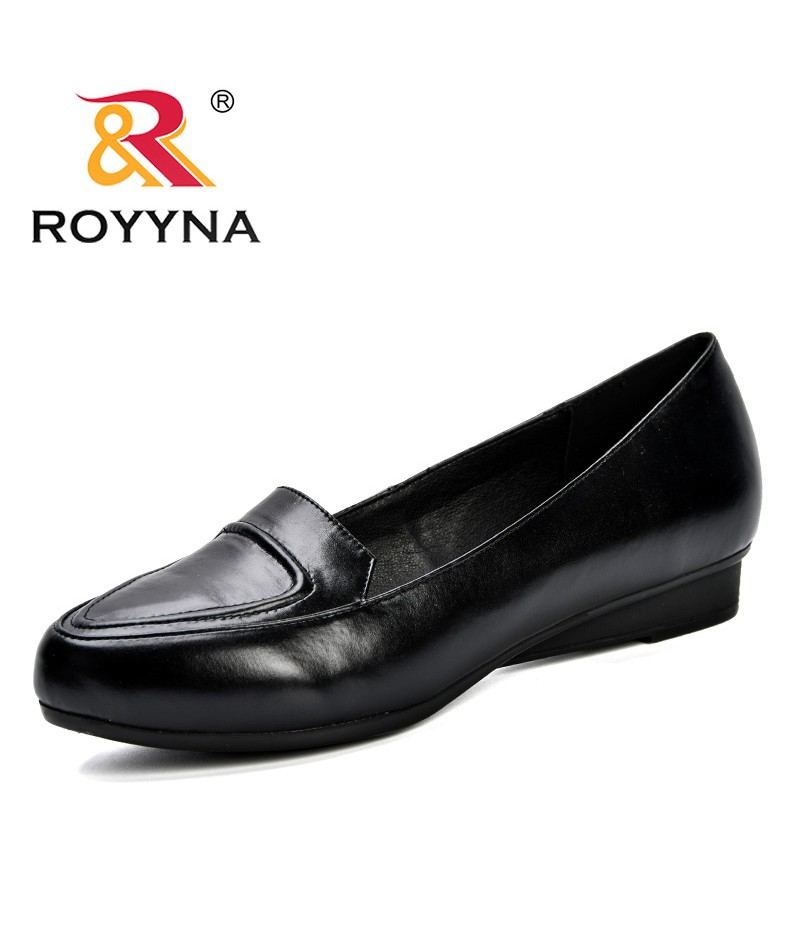 ROYYNA 2019 Spring Autumn Women Shoes Ladies Round Toe Heels Pumps Shoes Woman Slip On Soft Wedding Shoes Female Shoes D015-1