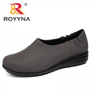 ROYYNA New Mature Style Women Pumps Outdoor Walking Round Toe Women Shoes Slip-On Comfortable Light Breathable Free Shipping