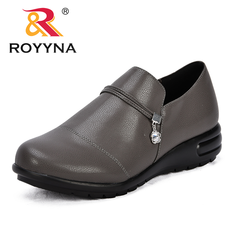 ROYYNA New Concise Style Women Pumps Slip-On Synthetic Female Office Shoes Round Toe Comfortable Lady Dress Shoes Free Shipping