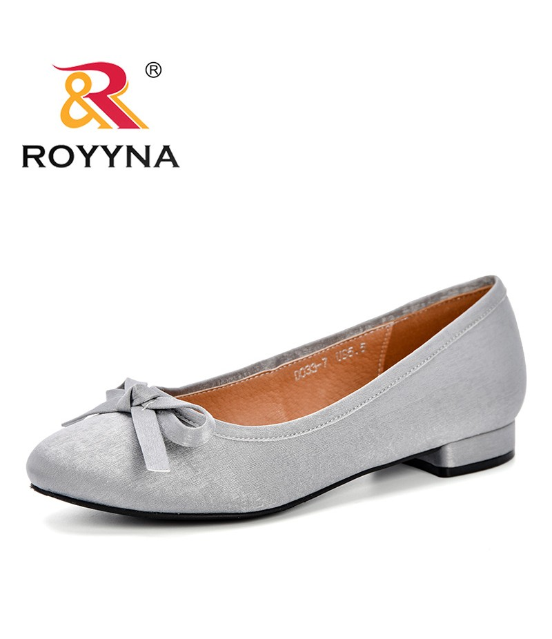 ROYYNA New Designer 2019 Spring Autumn Women's Pumps Lower Heels Women Shoes Round Toe Hoof Heels Feminimo Dress Shoes D033-7