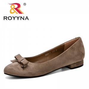 ROYYNA 2019 Newest Women Pumps Summer Women Shoes Lower Heel Pumps Comfortable Shoes Woman Flock Shoes Feminimo Comfortable Shoe