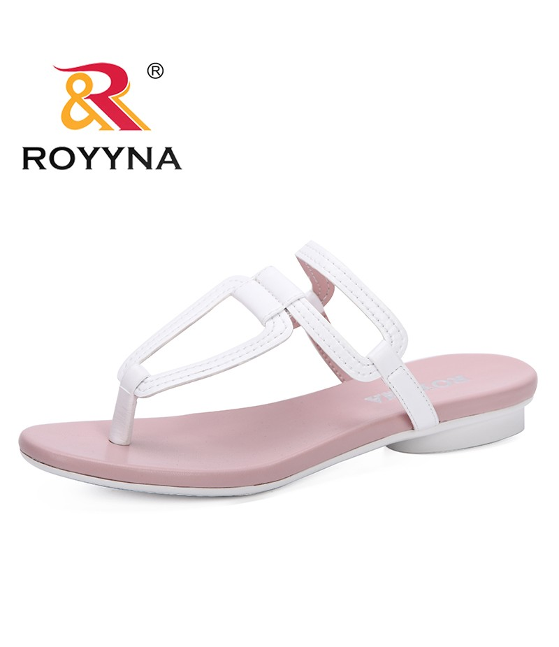 ROYYNA New 2019 Women Shoes Comfortable Beach Slippers Summer Fashion Flip Flops Ladies Shoes Flat Sandals Gladiator Sandalias