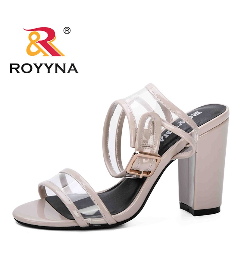 ROYYNA 2019 New Fashion Style Spring Summer Shoes Women Open Toe High Heels Party Dress Sandals Comfortable Sandalia Feminina