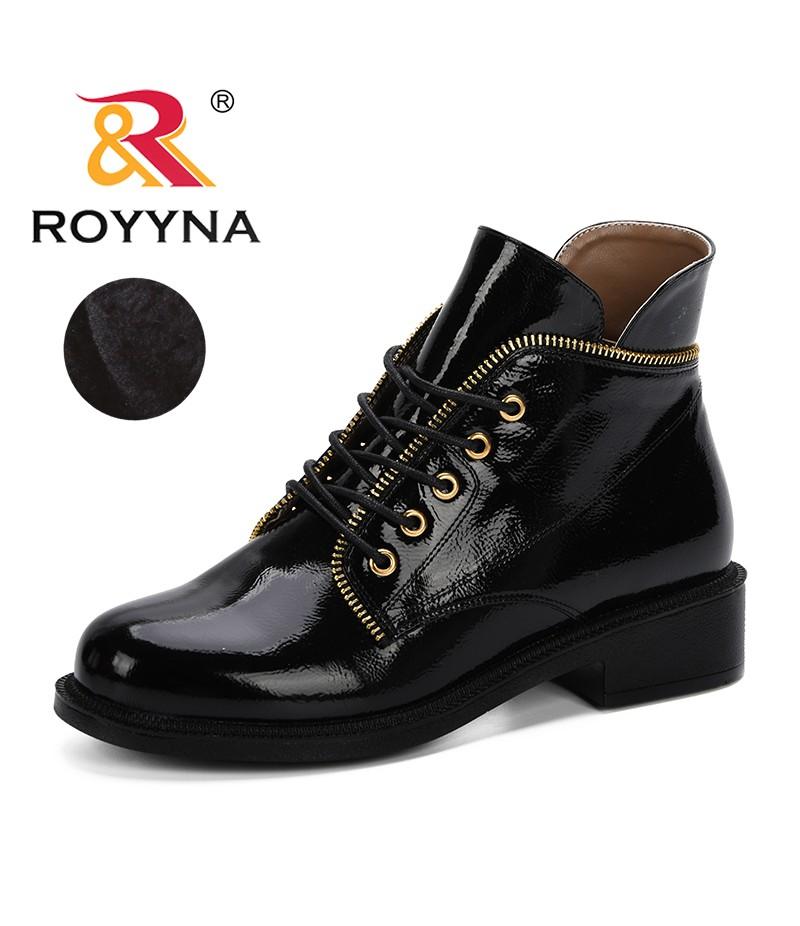 ROYYNA 2019 Autumn Winter Women Fashion Ankle Boots White Black Red Orange Shoe Female Platform Botas Sapatos Trendy D067-4