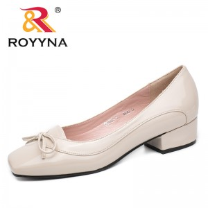 ROYYNA Shoes made in China  Women Pumps Butterfly-Knot Women Dress Shoes Square Toe Women Office Shoes Shallow Lady Shoes