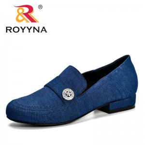 ROYYNA 2019 New Fashion Women's D'Orsay Lower Heels Pumps Slip On Female Comfortable Shoes Ladies Single Dress Shoes D075-11