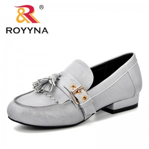 ROYYNA Women Synthetic Leather Shoes Comfortable Mother Loafers Soft Leisure Flats Casual Female Driving Macrame Footwear Light