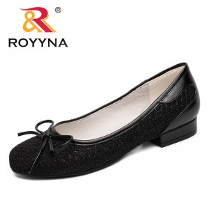 ROYYNA China Shoes  Women Pumps Butterfly-Knot Women Dress Shoes Slip-On Women Office Shoes Round Toe Lady Wedding Shoes