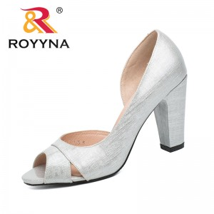 ROYYNA China Shoes  Women Pumps Shallow Women Shoes High Heels Lady Wedding Shoes Comfortable Light Size 5.5-8.5 Free Shipping