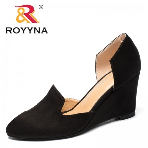 ROYYNA New Arrival Classics Style Women Pumps Shallow Femme Formal Shoes Wedges Lady Dress Shoes Pointed Toe Wedding Shoes Women