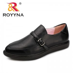 ROYYNA New Arrival Classics Style Women Flats Pointed Toe Women Office Shoes Buckle Women Loafers Comfortable Free Shipping