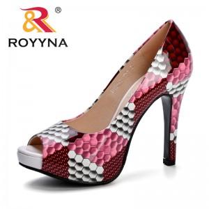 ROYYNA High-Heeled Shoes Female Fashion Summer Platform Trendy Thin High Heels Breathable Shoes Women Pumps Peep Toe Lady Shoes