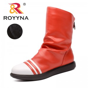 ROYYNA New Fashion Style Women Boots Zipper Women Winter Shoes Pointed Toe Lady Ankle Boots comfortable Light Free Shipping