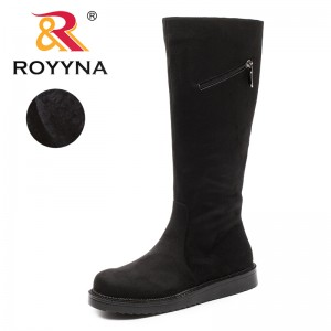 ROYYNA New Arrival Classics Style Women Boots Zipper Women winter Shoes Round Toe Lady Mid-Caf Boots Comfortable Free Shipping