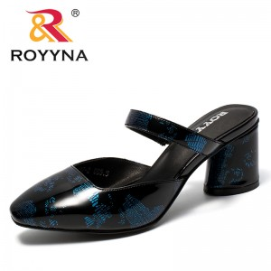 ROYYNA New Arrival Popular Style Women Pumps Square Toe Femme Dress Shoes Back Open Lady Summer Shoes Comfortable Free Shipping