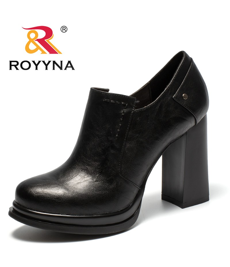 ROYYNA New Classics Style Women Pumps Platform Feminimo Dress Shoes Slip-On Lady Wedding Shoes Comfortable Fast Free Shipping