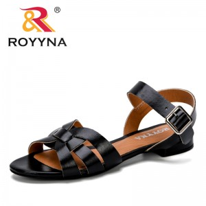ROYYNA 2019 New Classics Style Round Toe Women Sandals Flat Fashion Sandals Girls Summer Sandals Ladies Comfortable Shoes Trendy