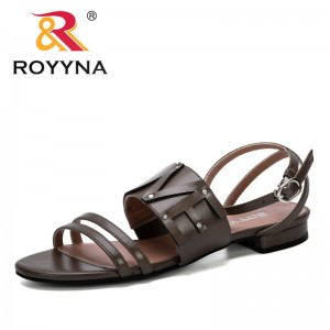 ROYYNA 2019 New Fashion Style Gladiator Sandals Women Summer Shoes Woman Casual Rome Style Flat Sandals Beach Chaussures Femme