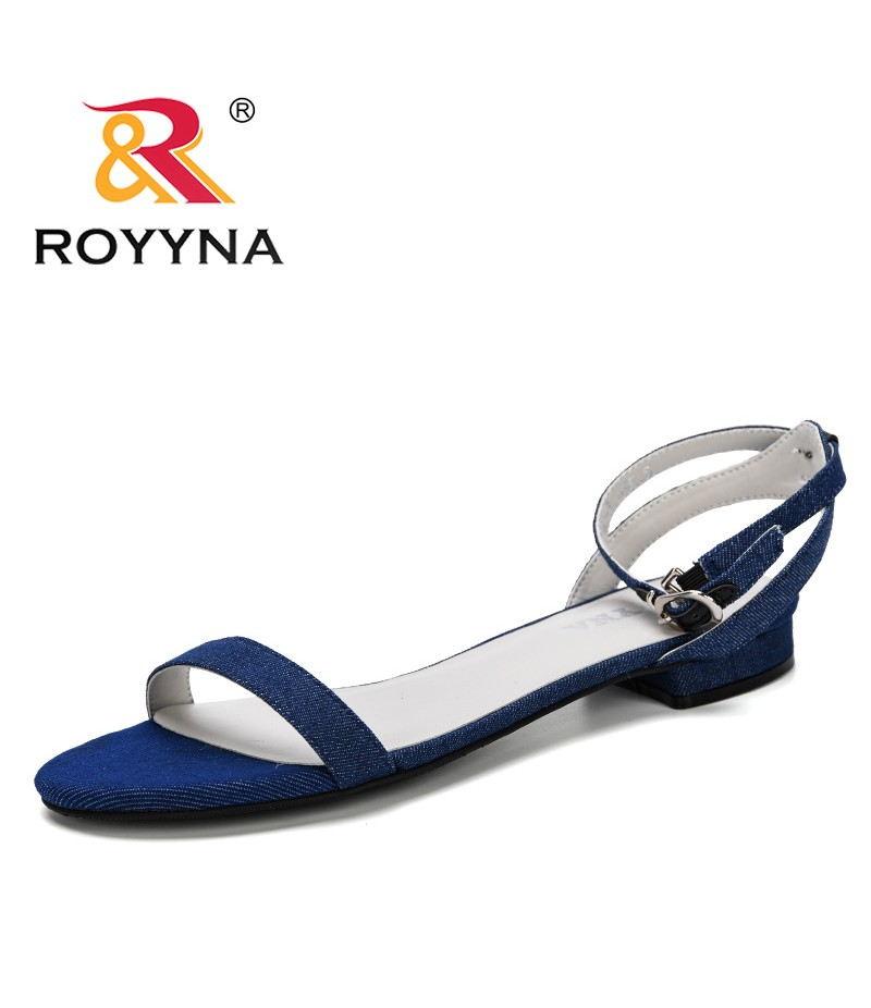 ROYYNA 2019 Summer Fashion Women Shoes Beach Sandals Ladies Comfortable Women Summer Shoes Female Flats Concise Sandalias Mujer