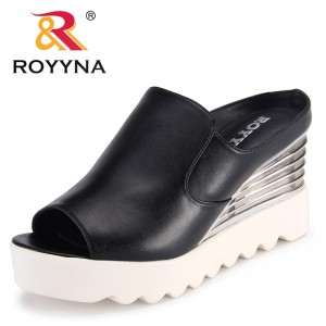 ROYYNA New Arrival Fashion Style Women Sandals Wedges Femme Slippers Platform High Heels Female Summer Shoes Fast Free Shipping