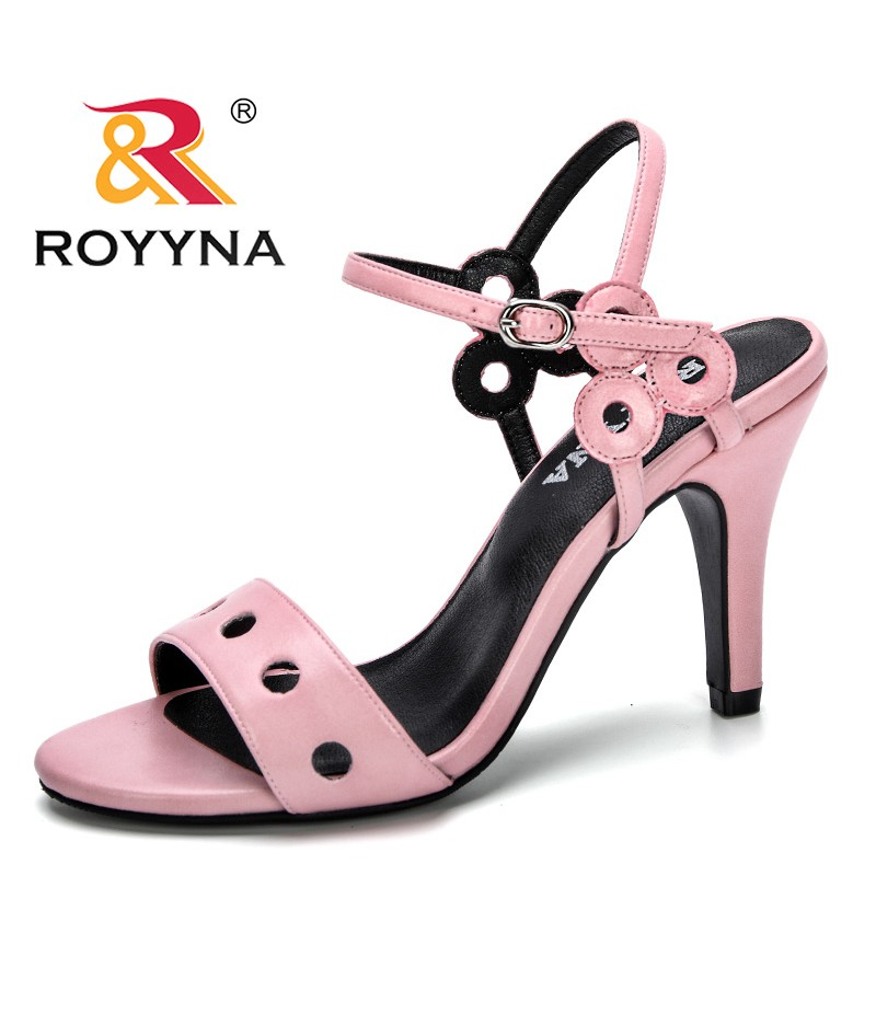 ROYYNA 2019 Women Sandals Ladies Casual High Heels Fashion Shoes For Woman Pumps Shoes Solid Comfortable Female Summer Sandals