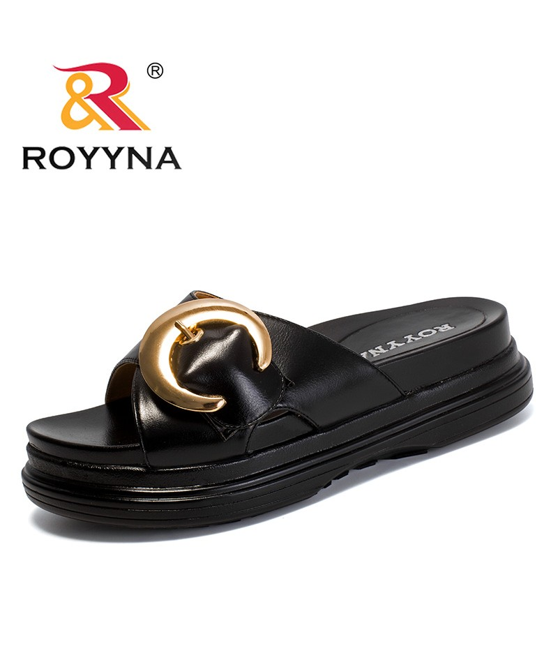 ROYYNA New fashion Style Women Slippers Platform Femme Summer Shoes Microfiber Lady Sandals Comfortable Light Fast Free Shipping