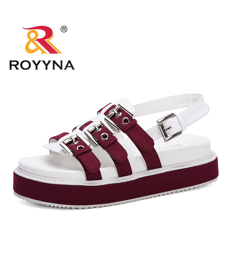 ROYYNA 2019 Women Sandals Solid Casual Beach Sandals Female Gladiator Open Toe Sandals Buckle Strap Summer Shoes Sandalias Mujer