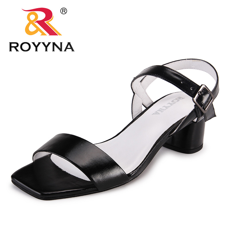 ROYYNA New Arrival Popular Style Women Sandals Microfiber Femme Summer Shoes Minimalist Design Lady Slippers Fast Free Shipping