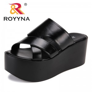 ROYYNA New Arrival Popular Style Women Slippers High Platform Microfiber Femme Summer Shoes Comfortable Light Fast Free Shipping