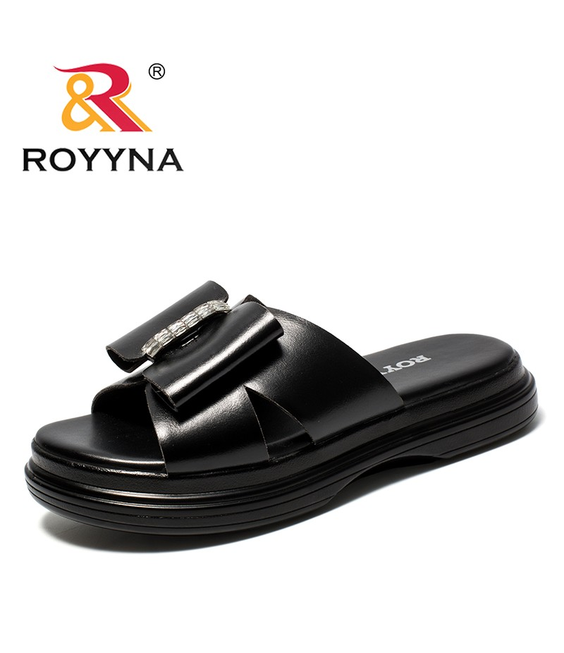 ROYYNA New Delicate Design Style Women Slippers Microfiber Femme Summer Shoes Platform Butterfly-Knot Lady Sandals Free Shipping