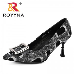 ROYYNA 2019 Spring Autumn New Designer Style Women Pumps High Heels Shoes Strange Heels Wedding Shoes Women Summer Pumps Trendy