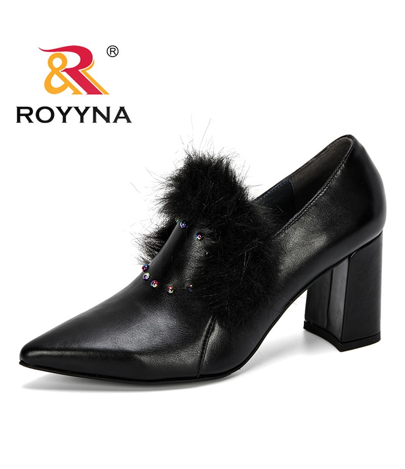 ROYYNA 2019 New Fashion Style Women's High Heels Shoes Candy Colors Pointed Toe Women Pumps Show Thin Female Office Shoes Trendy