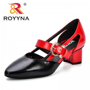 ROYYNA Women Shoes 2018 Autumn New Chaussure Femme Zapatos Mujer Straps Shoes Women Pumps High Heels Ladies Dress Wedding Shoes