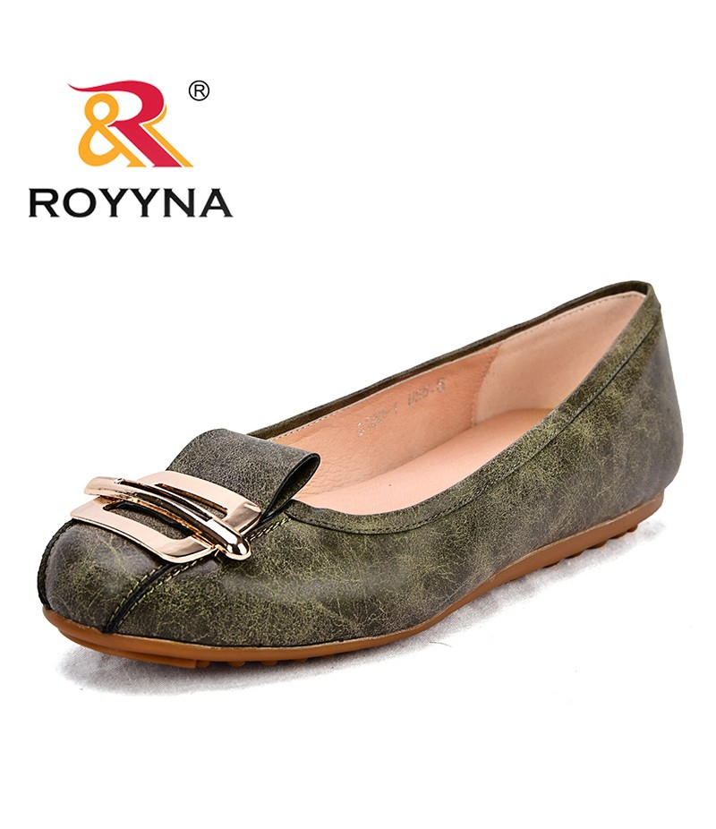 ROYYNA New Popular Style Women Flats Synthetic Feminimo Casual Shoes Metal Decoration Female Leisure Shoes Lady Flats Shoes